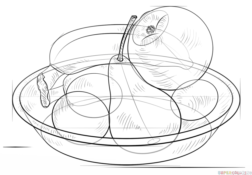 how to draw fruit in a bowl bowl of fruit drawing at getdrawings free download to draw how bowl a fruit in