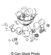how to draw fruit in a bowl vector fruit jelly in a bowl vector illustration of fruit fruit how to draw bowl in a