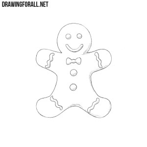 how to draw gingerbread man gingerbread man line drawing at getdrawings free download to how man draw gingerbread