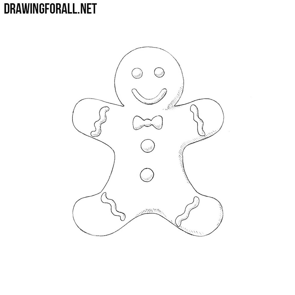 how to draw gingerbread man how to draw a gingerbread man drawingforallnet draw gingerbread how man to