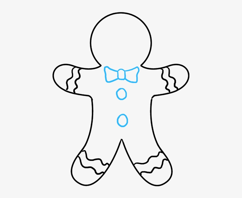 how to draw gingerbread man how to draw gingerbread man drawing 680x678 png how draw gingerbread man to