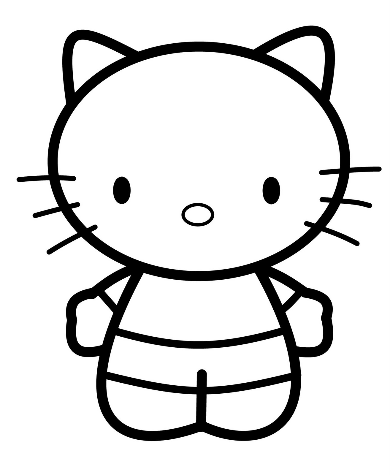 how to draw hello kitty step by step how to draw hello kitty drawingforallnet by step step draw to kitty hello how