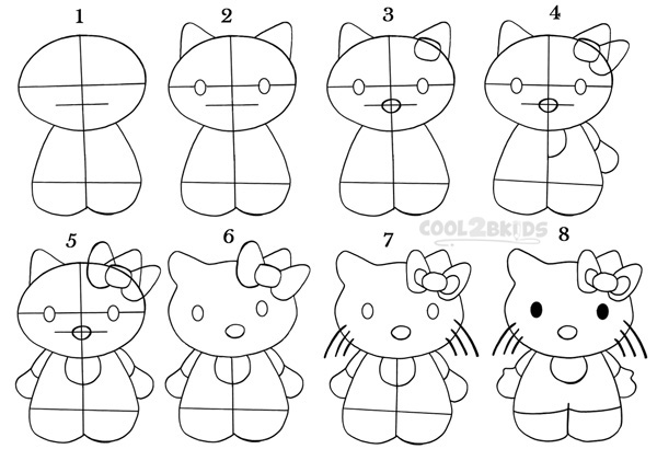 how to draw hello kitty step by step how to draw hello kitty step by step pictures cool2bkids kitty to step draw by step how hello
