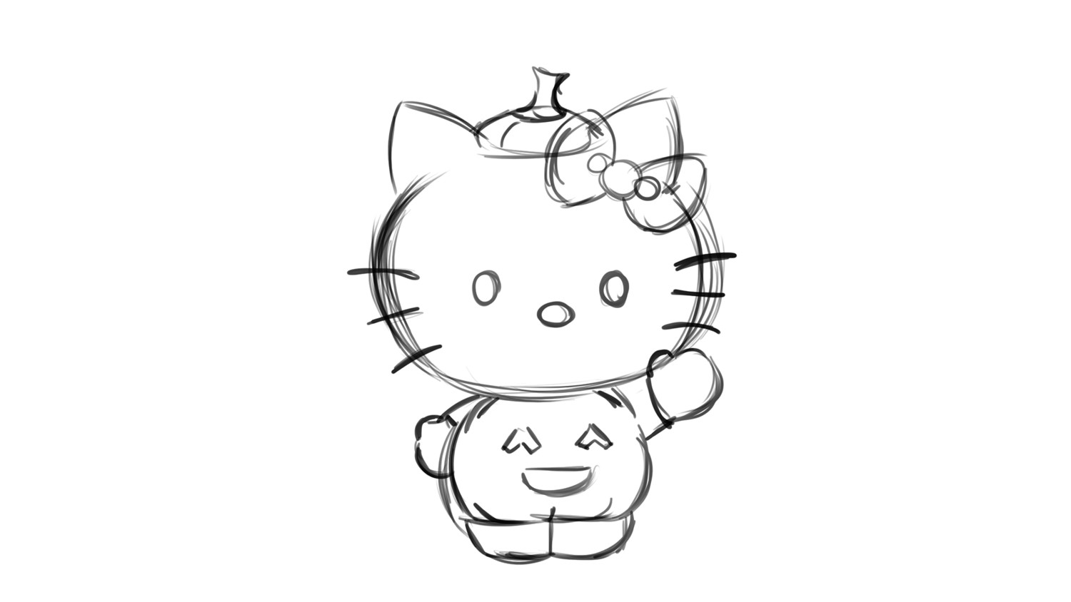 how to draw hello kitty step by step how to draw pikachu hello kitty step by step characters kitty hello by how step step draw to
