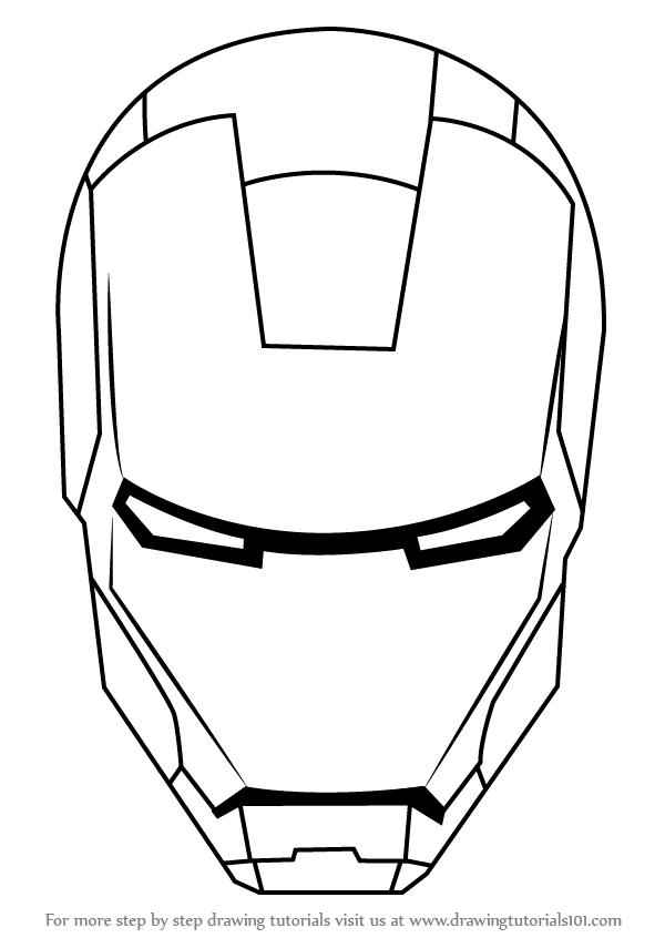 how to draw iron man face easy iron man drawing at getdrawings free download draw how to face iron man