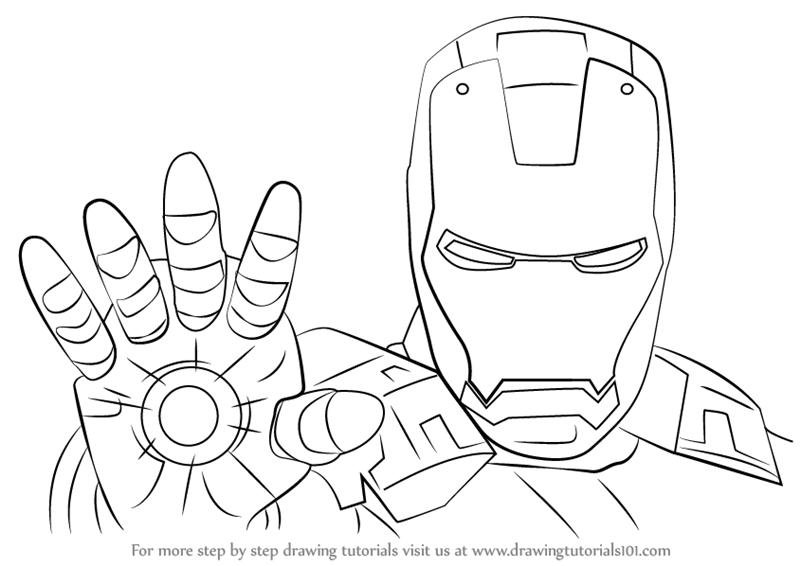 how to draw iron man face iron man drawing easy gallery to how man face draw iron