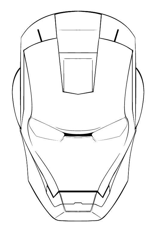 how to draw iron man face iron man face drawing at getdrawings free download to how draw man face iron