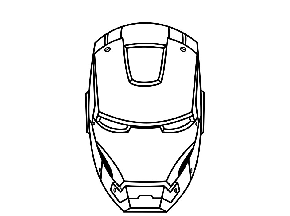 How to draw iron man face