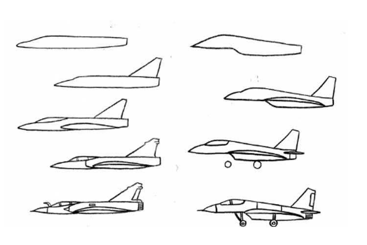 how to draw jet step by step how to draw a plane tutorial drawing tutorial learning jet step by to step draw how