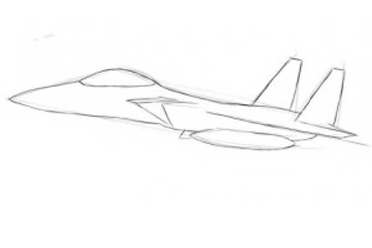how to draw jet step by step how to draw an airplane step by step drawing tutorials draw jet to step step by how