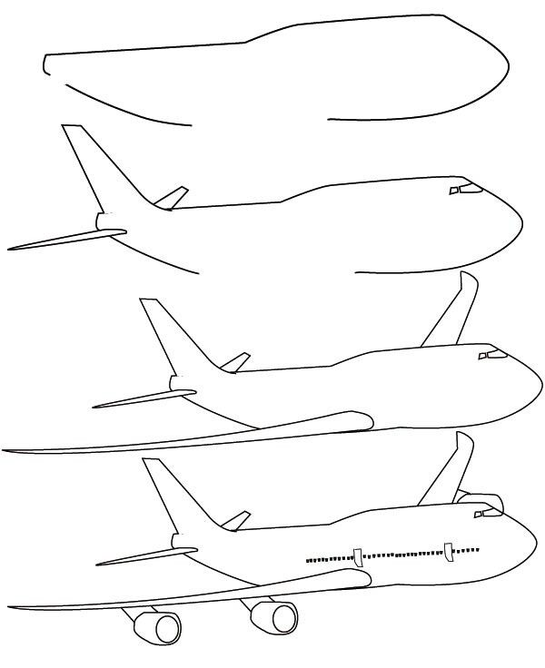 how to draw jet step by step step by step airplane drawing at getdrawings free download step step by to how jet draw