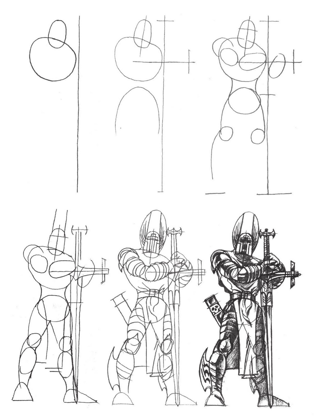 how to draw knights fighting knight lineart sample by padisio on deviantart knights draw fighting how to