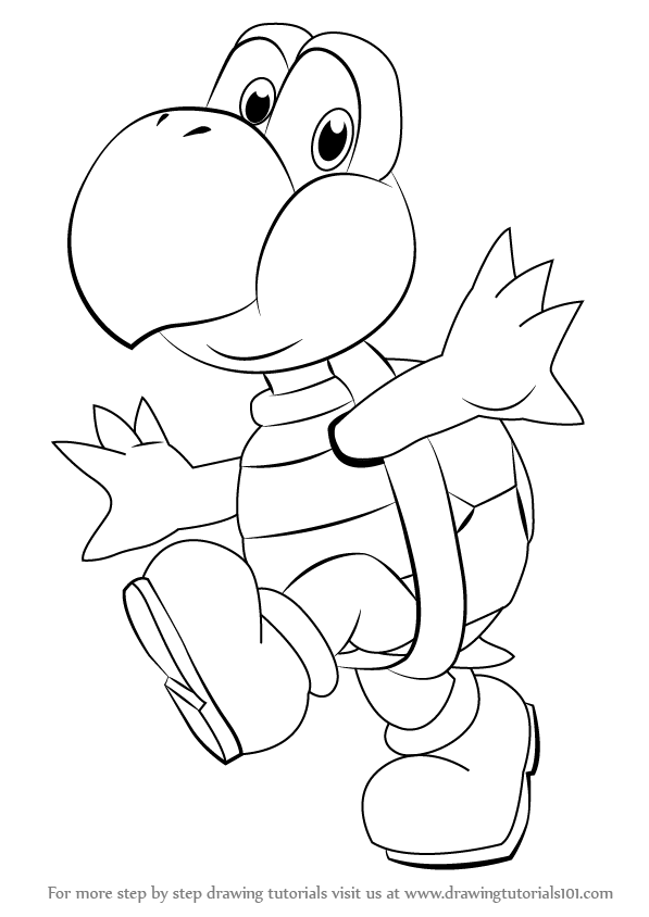 how to draw koopa troopa step by step how to draw koopa troopa step by step drawing tutorials step how by step koopa draw troopa to