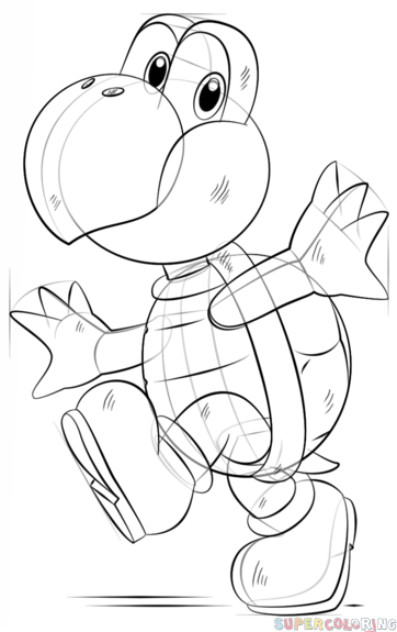 how to draw koopa troopa step by step the best free koopa drawing images download from 75 free step koopa draw step troopa to how by