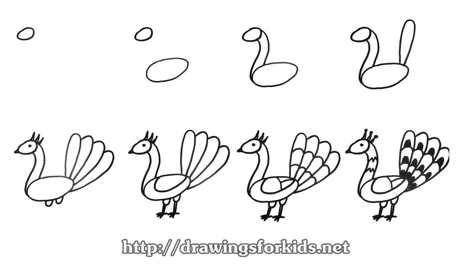 how to draw peacock step by step for kids peacock sketch for kids at paintingvalleycom explore kids how step to peacock by draw step for