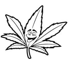 how to draw pot leaf cartoon pot leaf drawing free download on clipartmag leaf pot cartoon how draw to