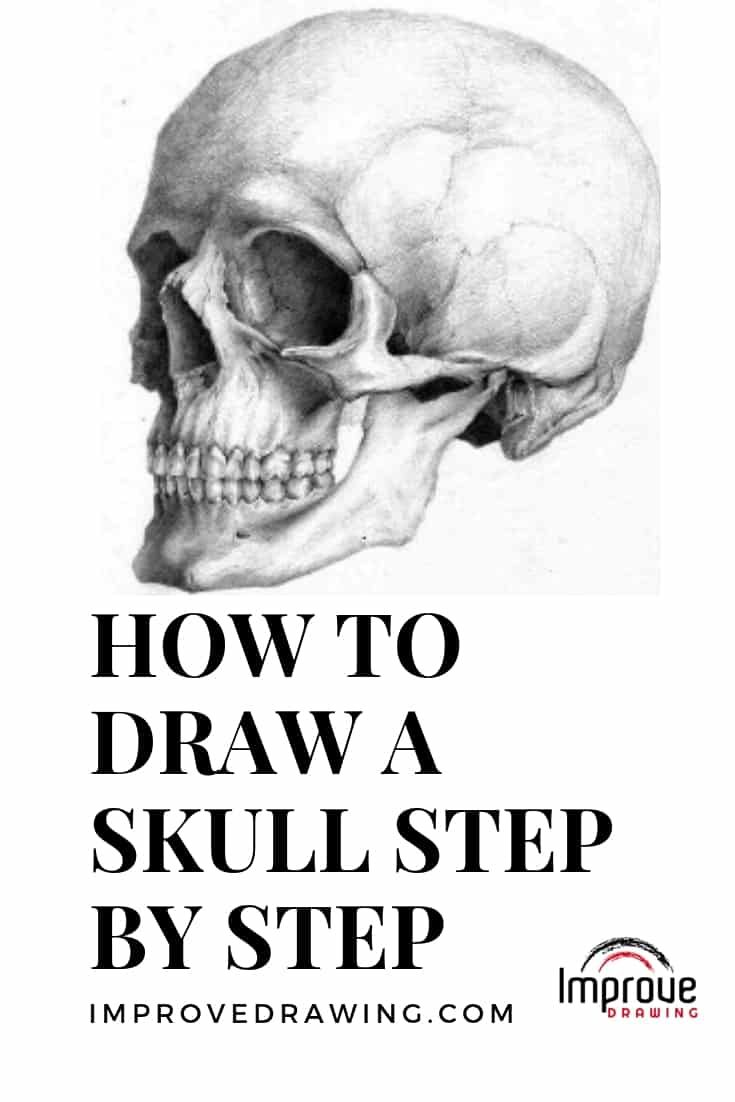 how to draw realistic skulls step by step how to draw a skull step by step tutorial easy drawing to realistic step step by how draw skulls