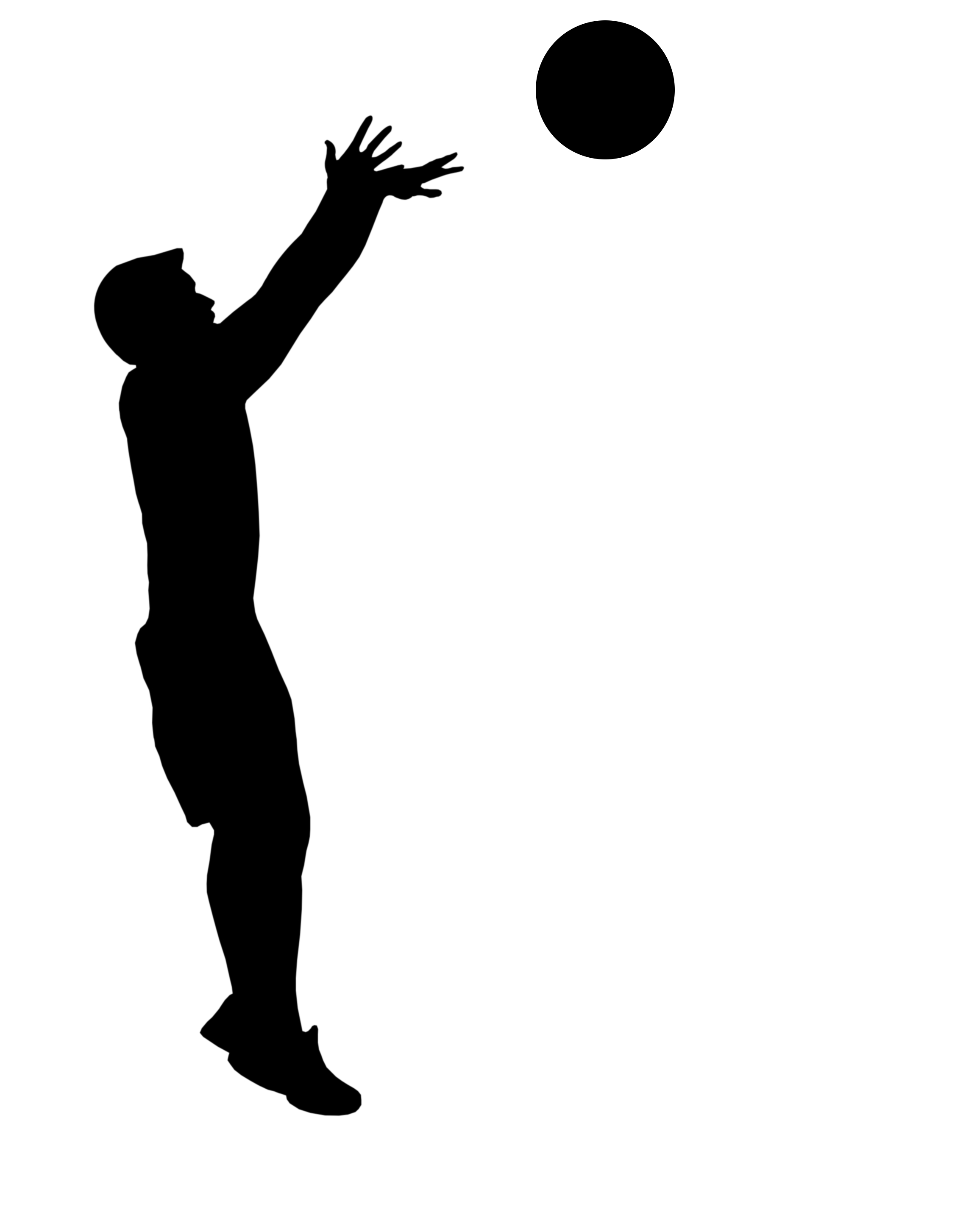 How to draw someone shooting a basketball