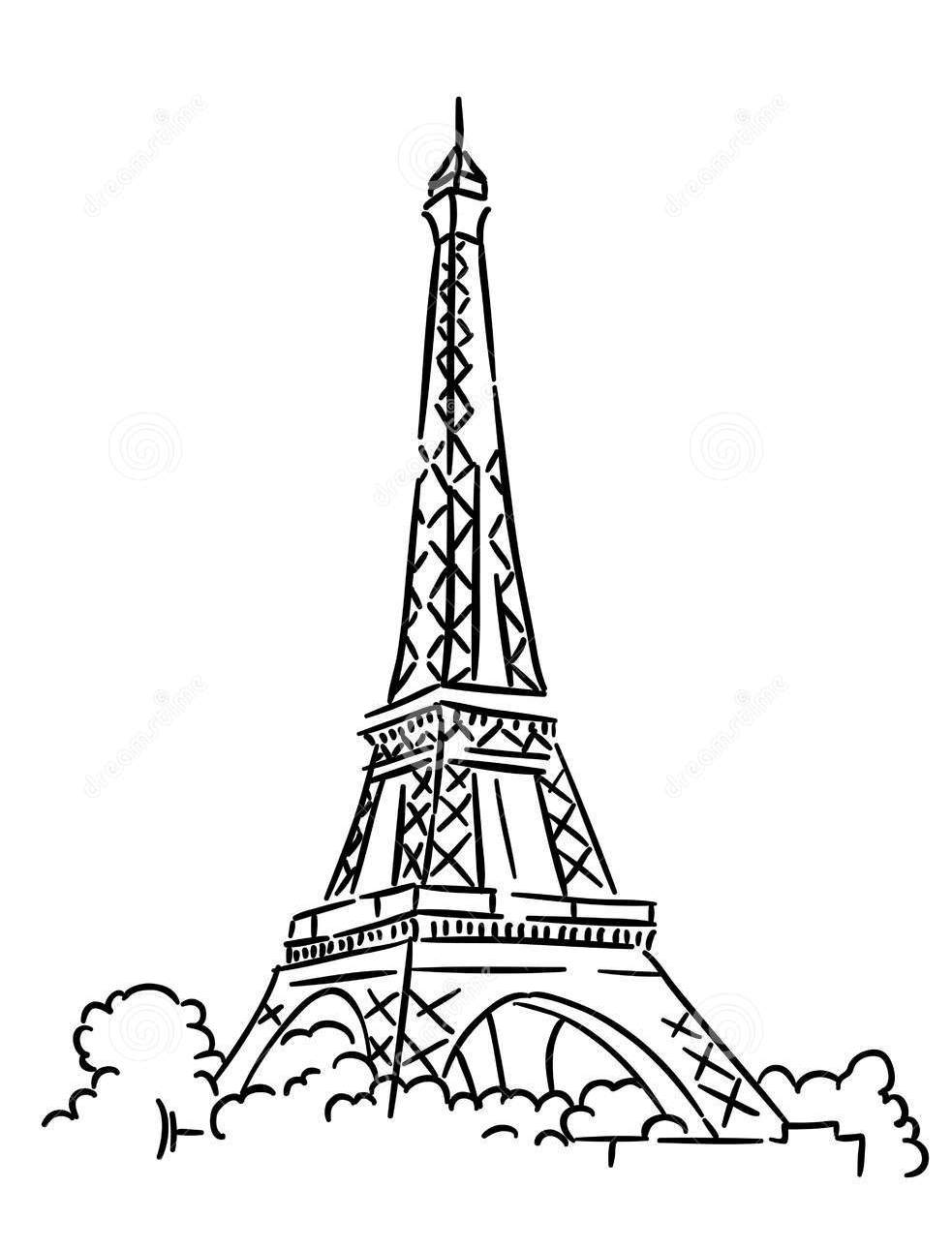 how to draw the eiffel tower easy step by step eiffel tower drawing easy at getdrawings free download eiffel tower how to easy step by the step draw
