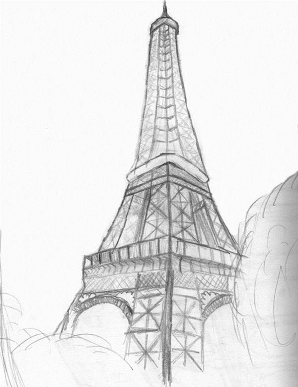 how to draw the eiffel tower easy step by step eiffel tower drawing step by step at paintingvalleycom draw easy to the step eiffel by how tower step