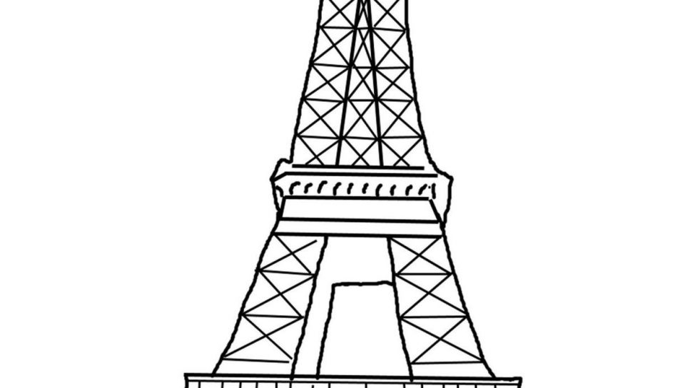 how to draw the eiffel tower easy step by step eiffel tower drawing step by step free download on easy draw the to tower step eiffel by step how
