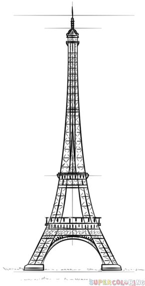 how to draw the eiffel tower easy step by step how to draw eiffel tower step by step easy drawing easy tower step eiffel draw to step by how the