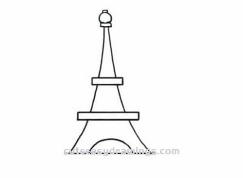 how to draw the eiffel tower easy step by step how to draw eiffel tower step by step for kids clipart best the easy tower to step eiffel draw by how step