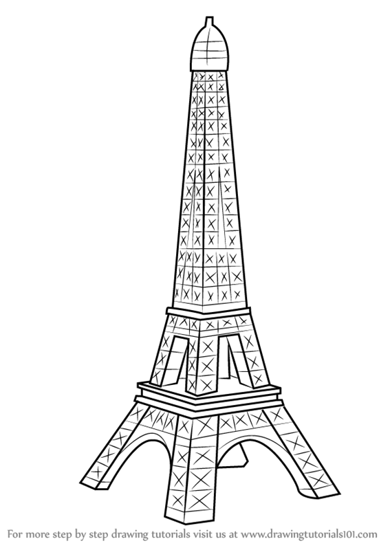 how to draw the eiffel tower easy step by step how to draw the eiffel tower in a few easy steps drawing the draw step how step eiffel by to tower easy