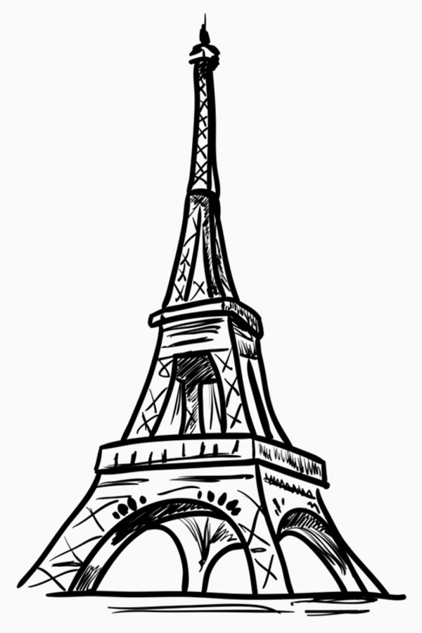 how to draw the eiffel tower easy step by step how to draw the eiffel tower step by step drawing step eiffel easy how the by tower draw step to