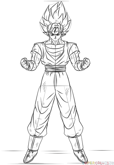 how to goku how to draw goku in a few quick steps easy drawing tutorials to goku how