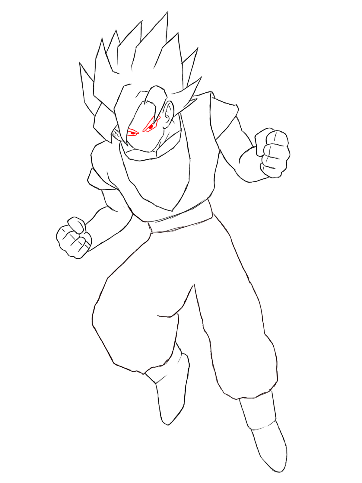 how to goku how to draw goku step by step pictures cool2bkids how to goku