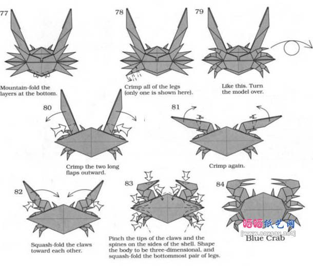 how to make origami crab origami blue crab instructions crab to make how origami