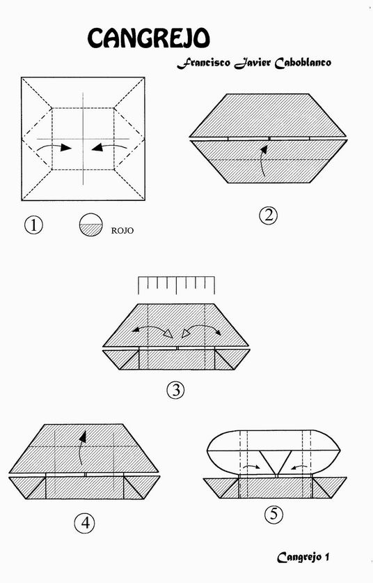 how to make origami crab origami sea creatures make crab how origami to