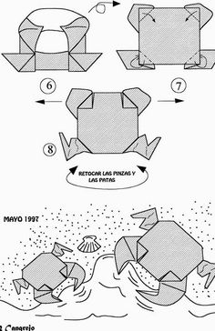 how to make origami crab origami sea creatures origami how make to crab