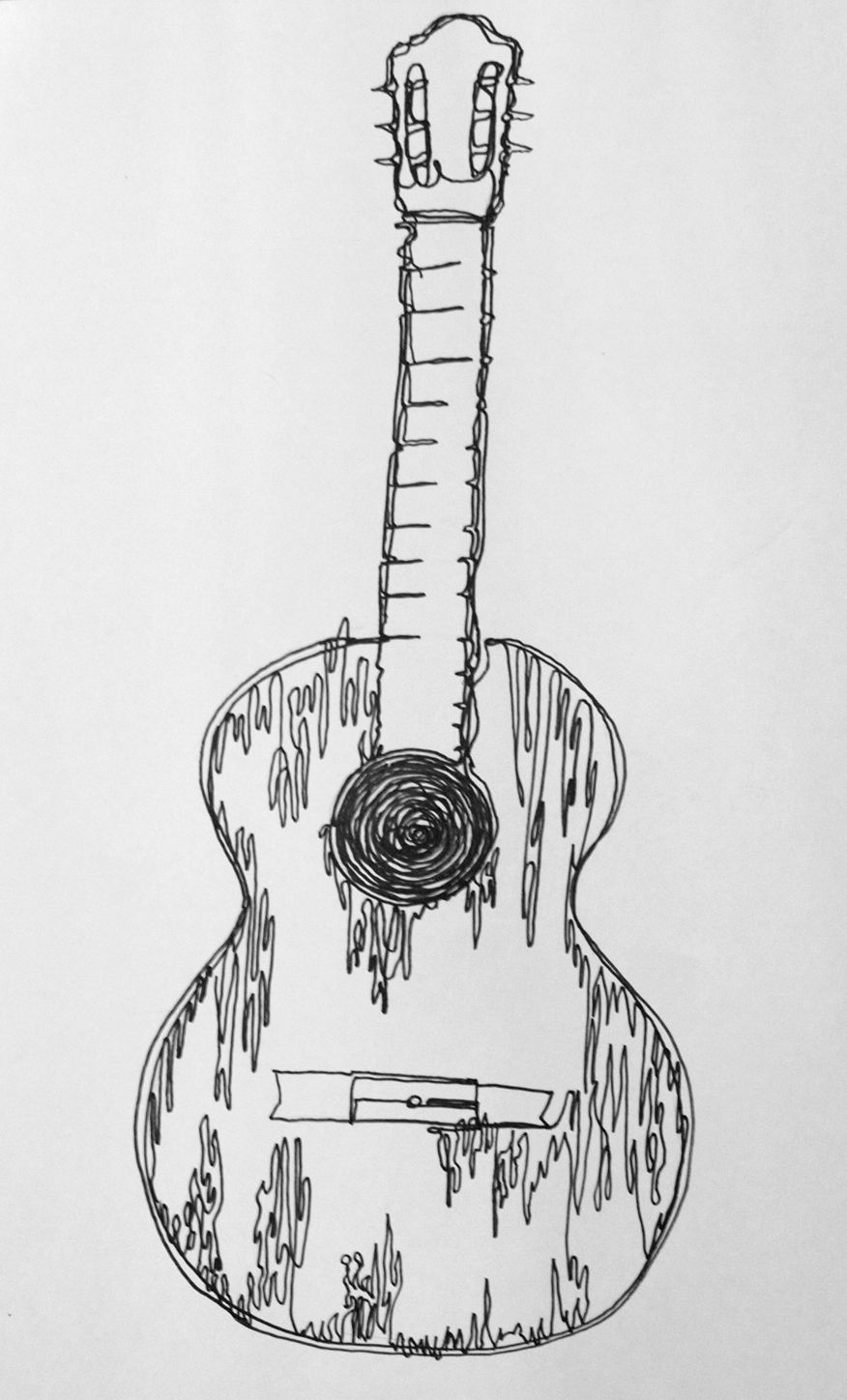 how to sketch a guitar bass guitar drawing at paintingvalleycom explore to sketch guitar how a