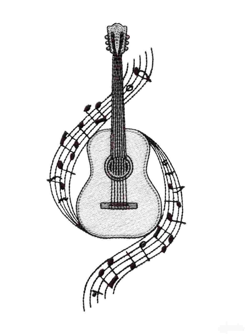 how to sketch a guitar easy drawing of guitar at getdrawings free download guitar how a sketch to