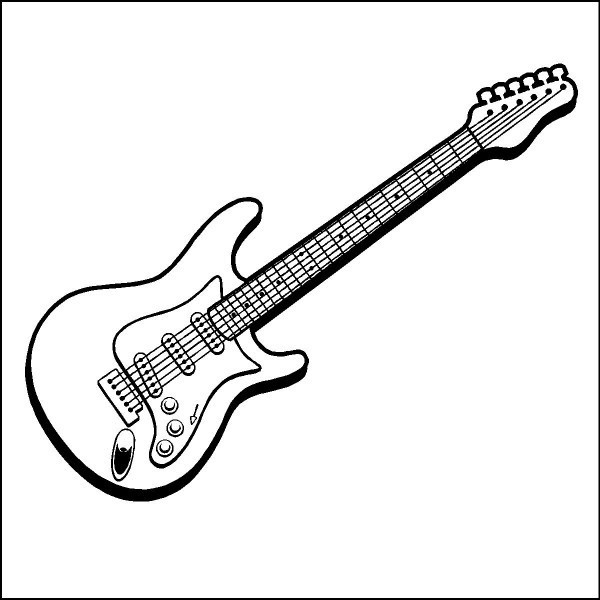 how to sketch a guitar easy drawing of guitar at getdrawings free download guitar sketch to a how