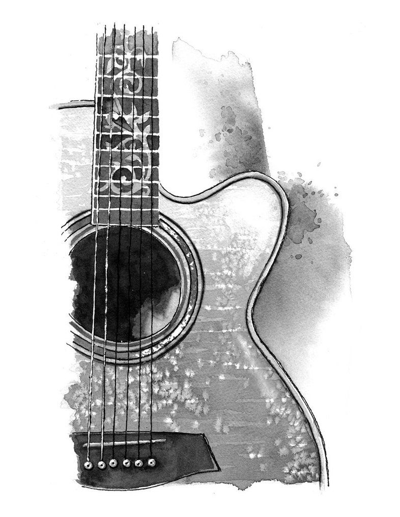 how to sketch a guitar electric guitar line drawing at paintingvalleycom guitar to how a sketch
