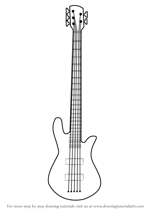 how to sketch a guitar how to draw an electric guitar step by step string a to how guitar sketch