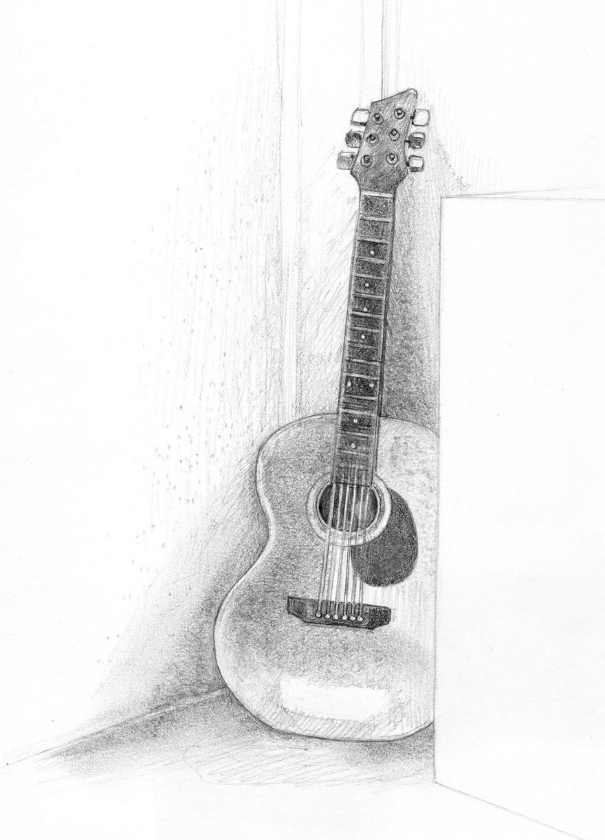 how to sketch a guitar pin by src on drawingspaintings pinterest drawings a sketch guitar to how