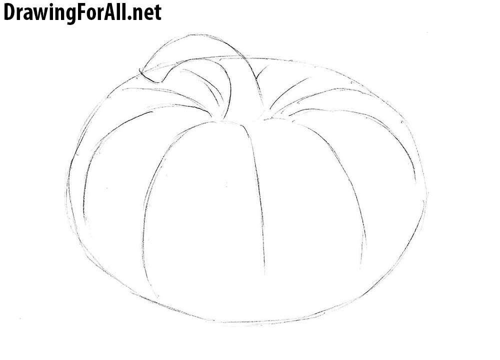 how to sketch a pumpkin how to draw a cute pumpkin step by step halloween pumpkin sketch to how a