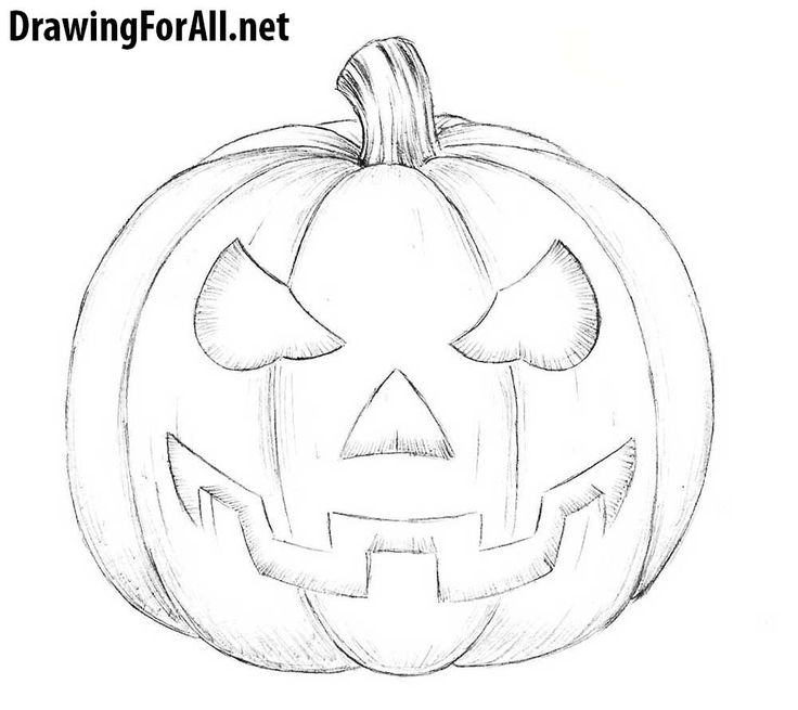 how to sketch a pumpkin how to draw a halloween pumpkin drawingforallnet sketch pumpkin a to how