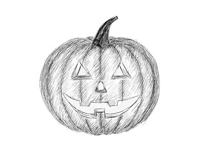 how to sketch a pumpkin how to draw a pumpkin easy drawing guides to how sketch pumpkin a