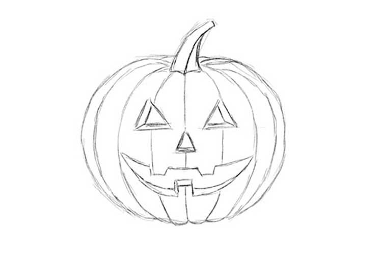 how to sketch a pumpkin how to draw a pumpkin step by step easy for halloween how to sketch pumpkin a