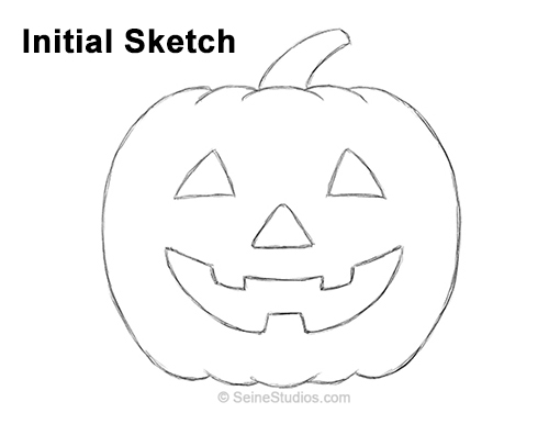 how to sketch a pumpkin how to draw a pumpkin step by step easy for halloween how to sketch pumpkin a 1 1