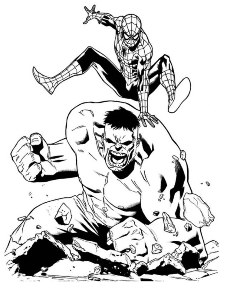 hulk and spiderman coloring pages coloring pages hulk and spiderman google søgning pages coloring hulk and spiderman