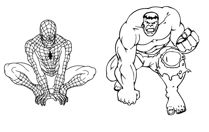 hulk and spiderman coloring pages hulk and spiderman coloring page free printable coloring spiderman coloring and hulk pages