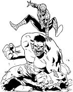 hulk and spiderman coloring pages spider man birthday coloring page free coloring pages online spiderman hulk coloring and pages