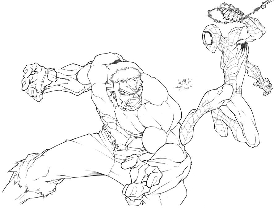 hulk and spiderman coloring pages spiderman vs hulk by lopezmichael on deviantart pages hulk and spiderman coloring