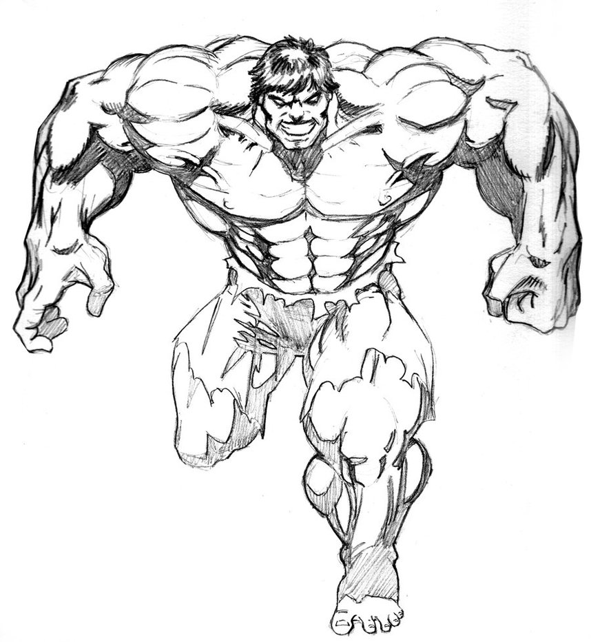 hulk outline for coloring hulk cartoon drawing at getdrawings free download coloring hulk for outline